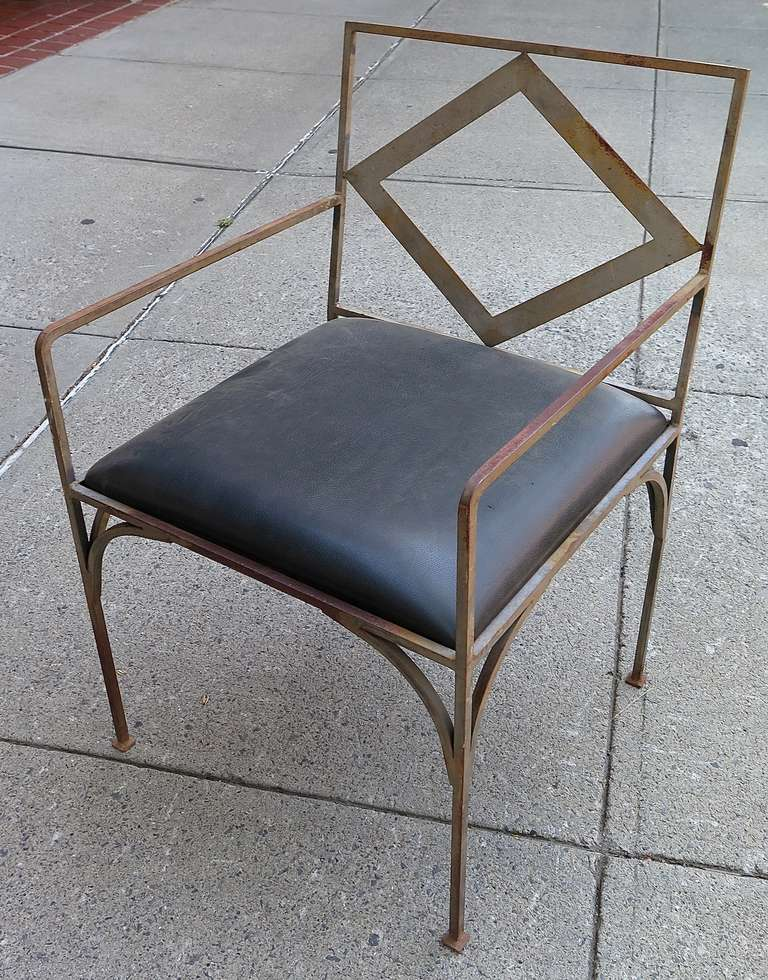 1970 Set Of Four Iron Outdoor Chairs For Sale At 1stdibs