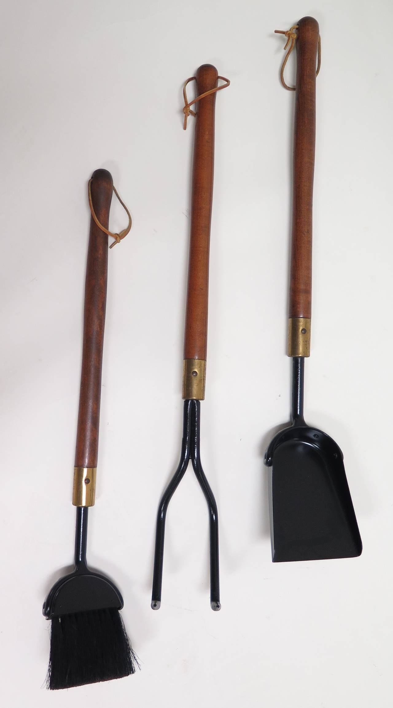 1950 Seymour Co. Heavy Duty Fireplace Tool Set at 1stdibs