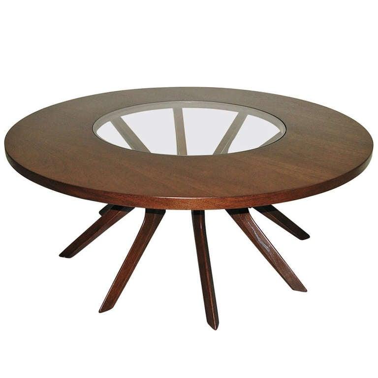 1950 Walnut Spider Leg Coffee Table At 1stdibs