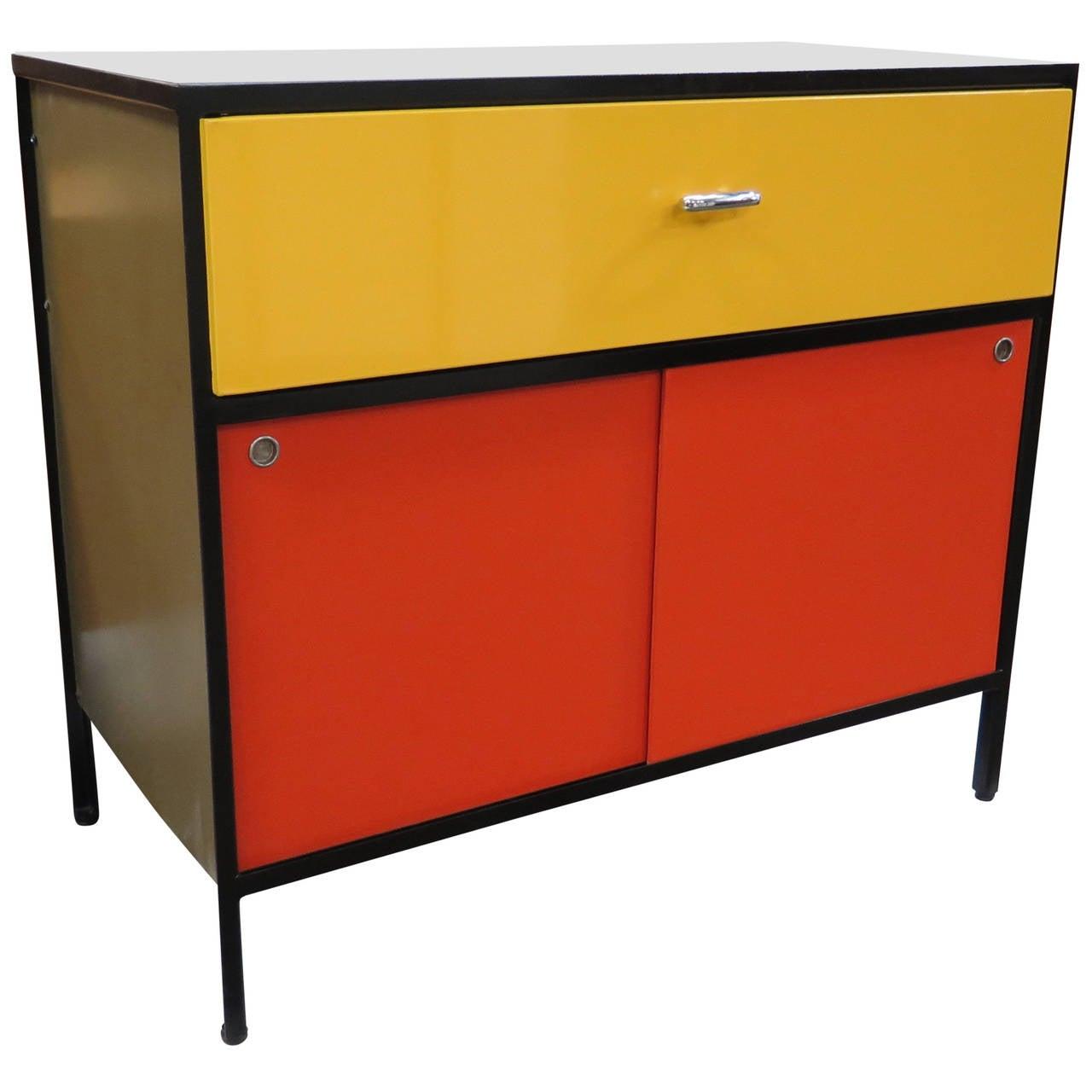 Steel Frame Kitchen Cabinets: Vibrant 1950s George Nelson Steel Frame Cabinet