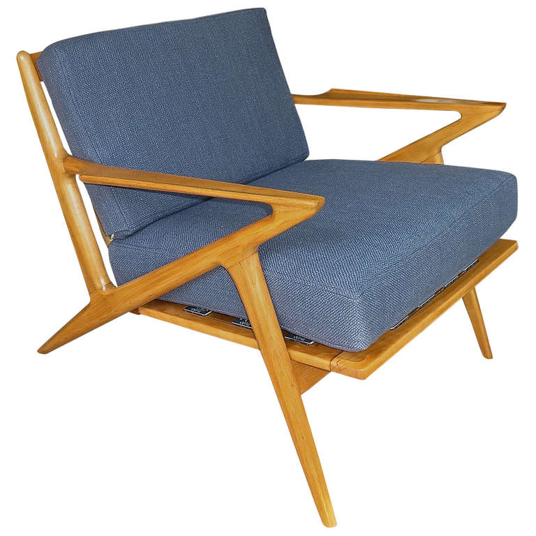 Unusual 1950 poul jensen for selig z lounge chair at 1stdibs for Poul jensen z chair