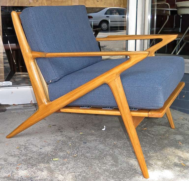 Unusual 1950 poul jensen for selig z lounge chair at 1stdibs - Selig z chair for sale ...