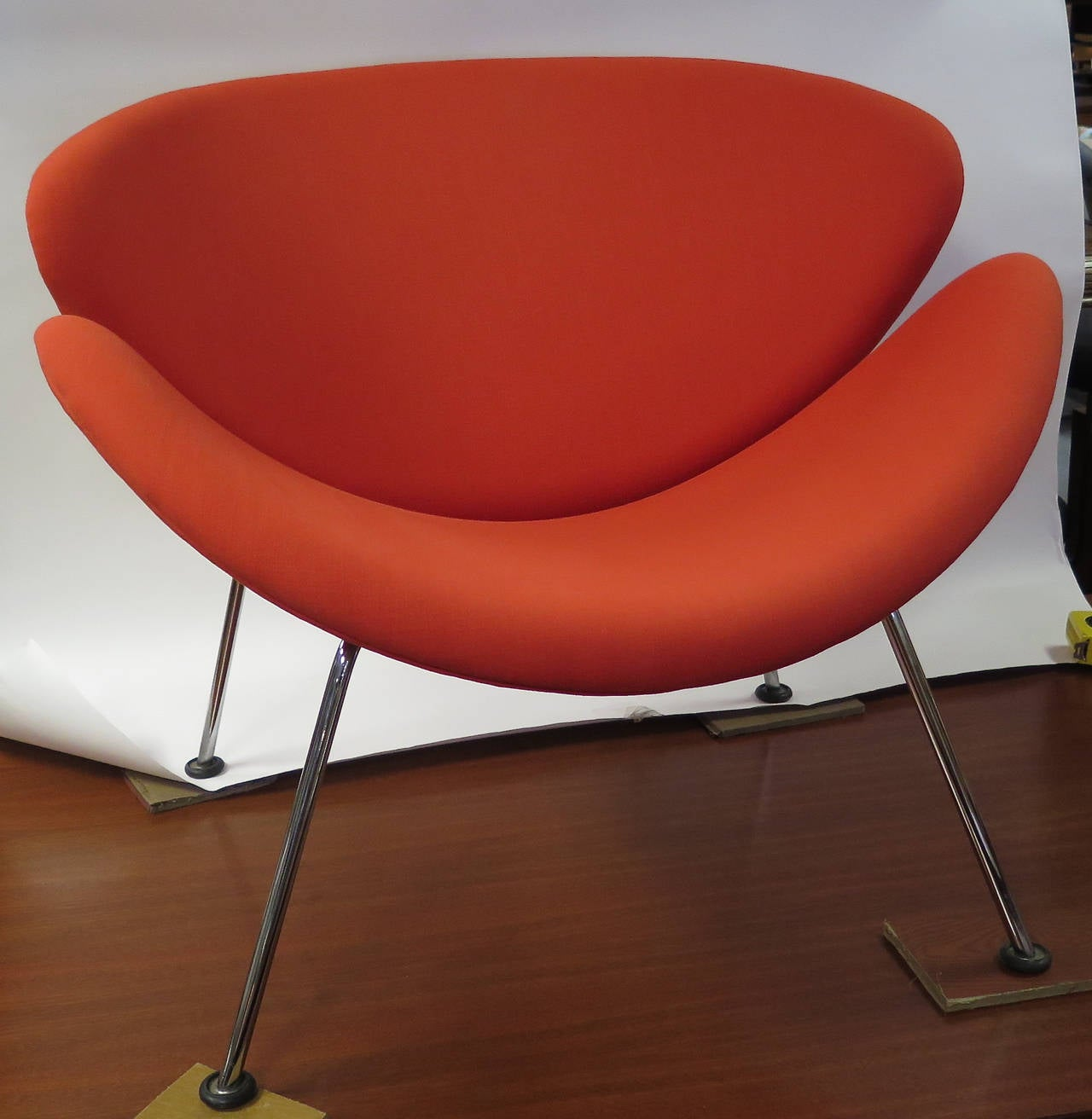 Vibrant 1960s Pierre Paulin For Artifort Orange Slice