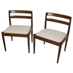 1950 Kai Kristiansen Teak Pair of Chairs For Magnus Olesen