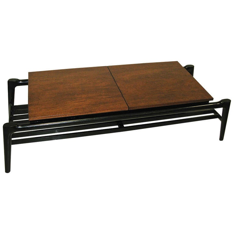 1950 Mersman Flip Open Coffee Table Great Storage At 1stdibs