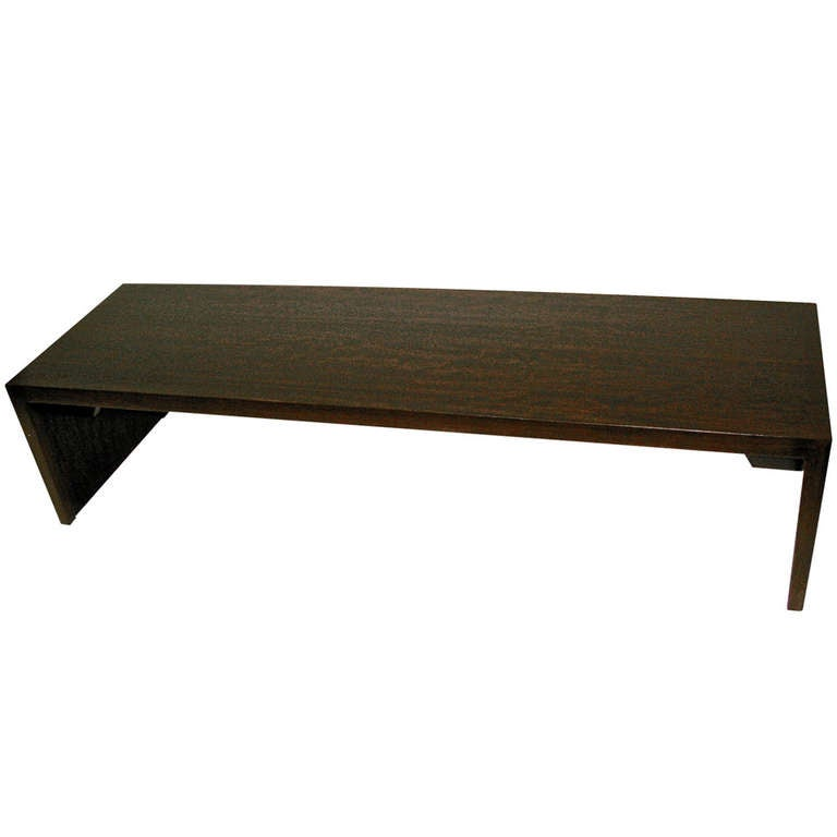 Beautiful 1960 milo baughman wood bench or coffee table at for Beautiful wooden benches