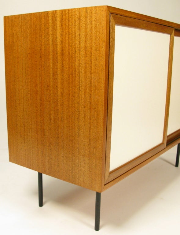 1960 Harvey Probber 2 Door Cabinet W Drawers At 1stdibs