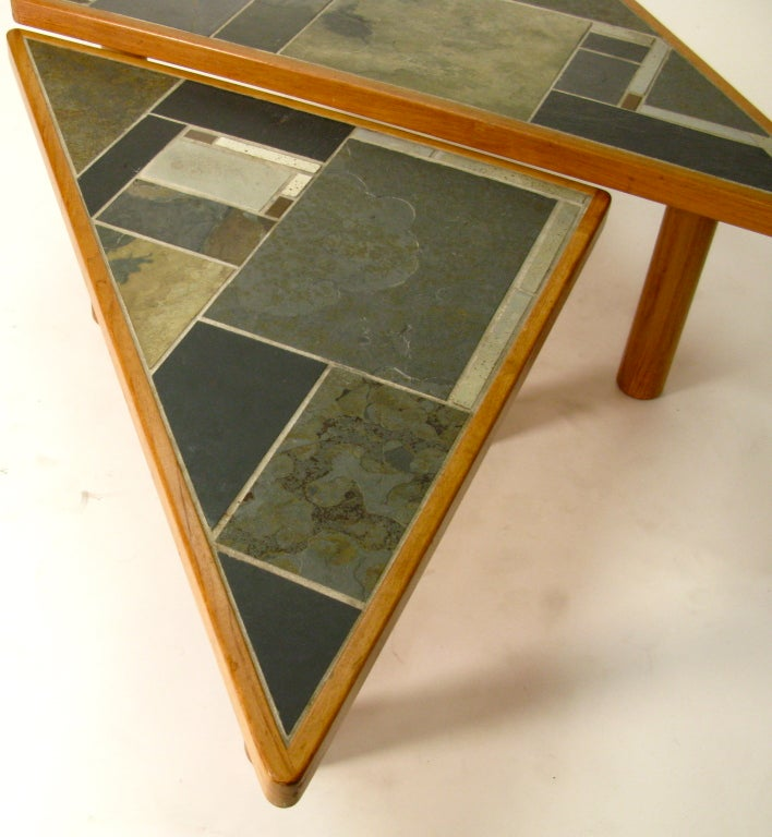 49 Coffee Table Nickel Finish Solid Iron Casters: 1970 Danish Pair Coffee Tables By Britt Sallingboe In Teak