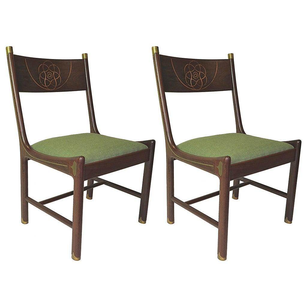 Pair of 1970 Ib Kofod-Larsen for Selig Chairs