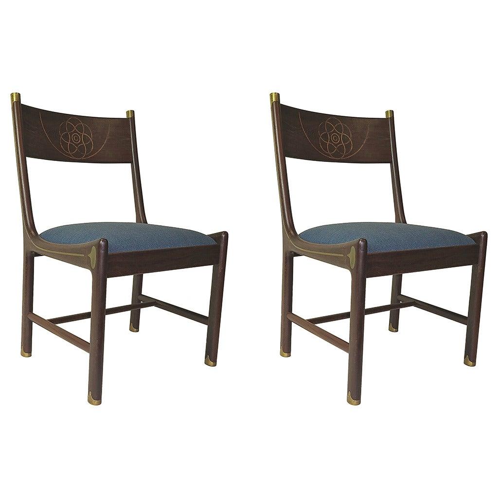 1970 Pair of Ib Kofod-Larsen for Selig Chairs