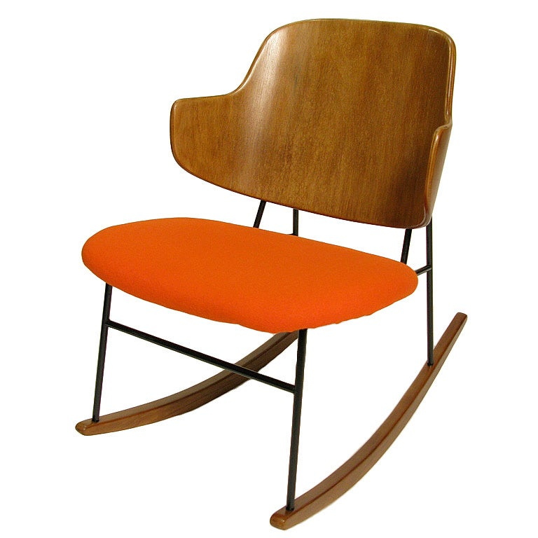 Red Rocking Chair Billy Strings ~ Rare ib kofod larsen rocker at stdibs