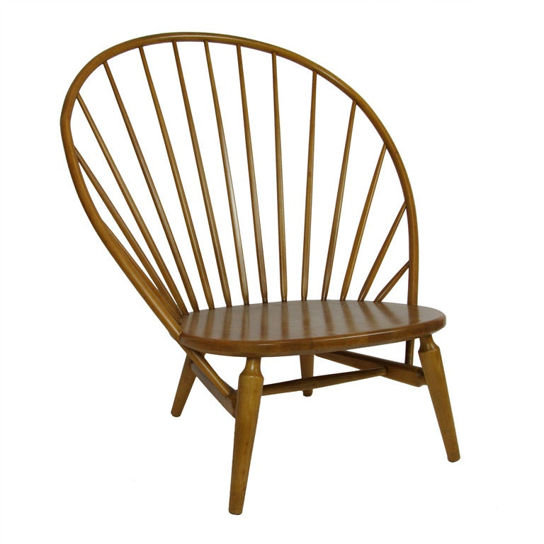 Great High Spindle Back Lounge Chair At 1stdibs