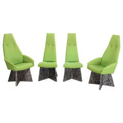 Set of Four Adrian Pearsall Brutalist Style Chairs