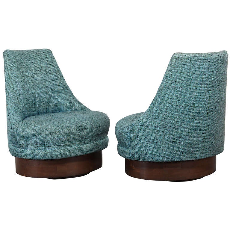 adrian pearsall style swivel chairs at 1stdibs. Black Bedroom Furniture Sets. Home Design Ideas