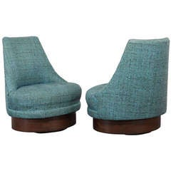 Adrian Pearsall Style Swivel Chairs
