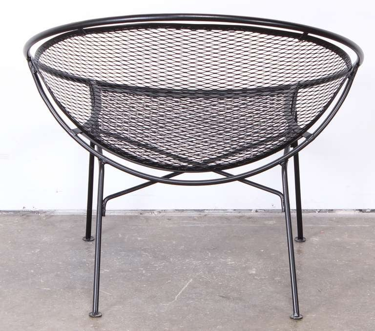 Salterini Wrought Iron Lounge Chair at 1stdibs