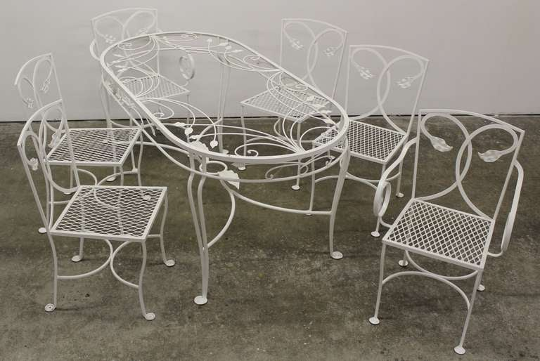 salterini wrought iron patio chairs and table at 1stdibs