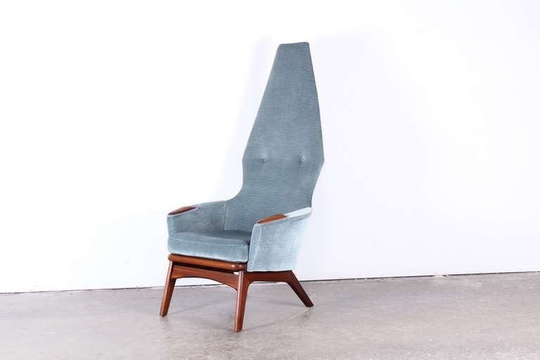 A very dramatic Adrian Pearsall high back chair.