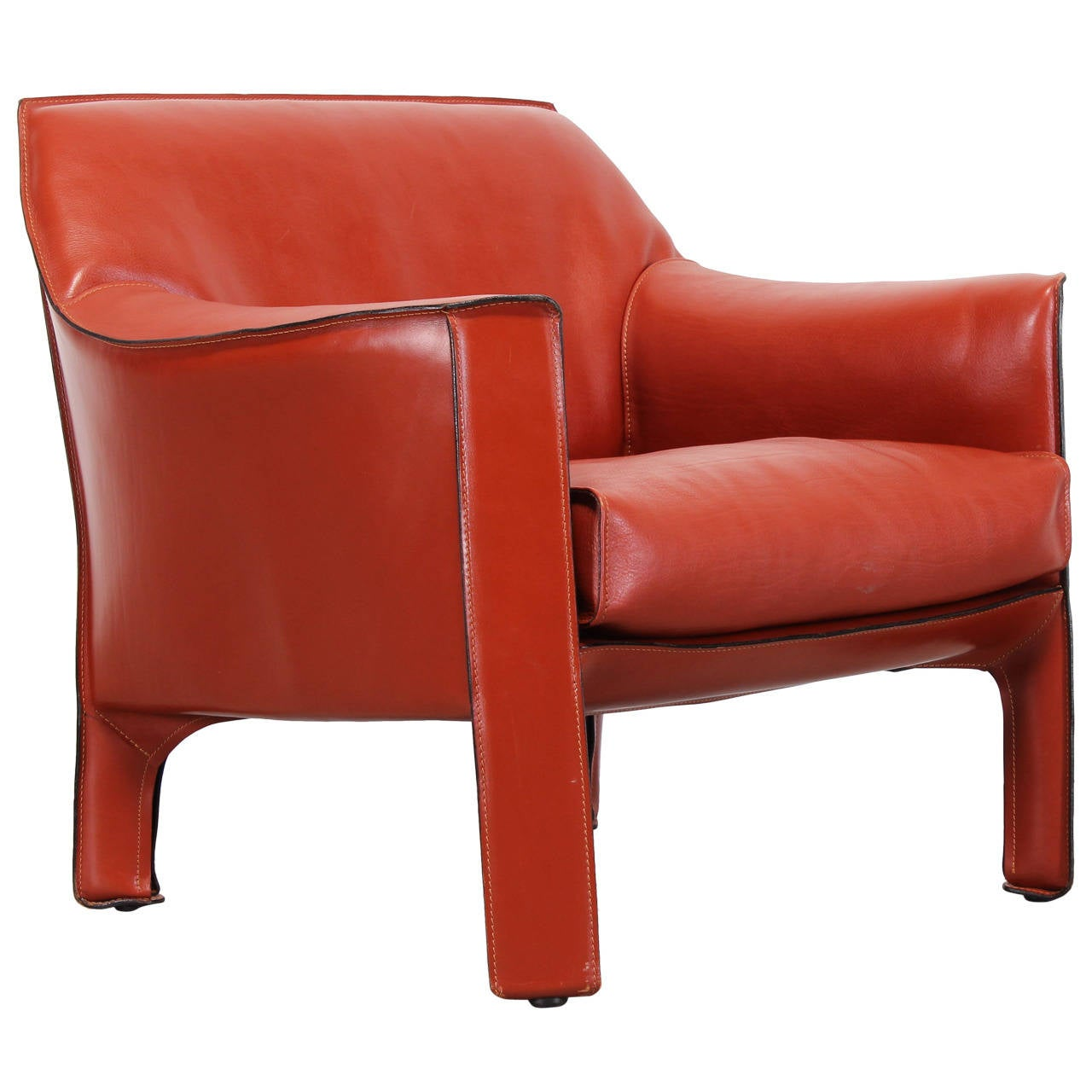 Large 415 Cab Chair By Mario Bellini For Cassina At 1stdibs