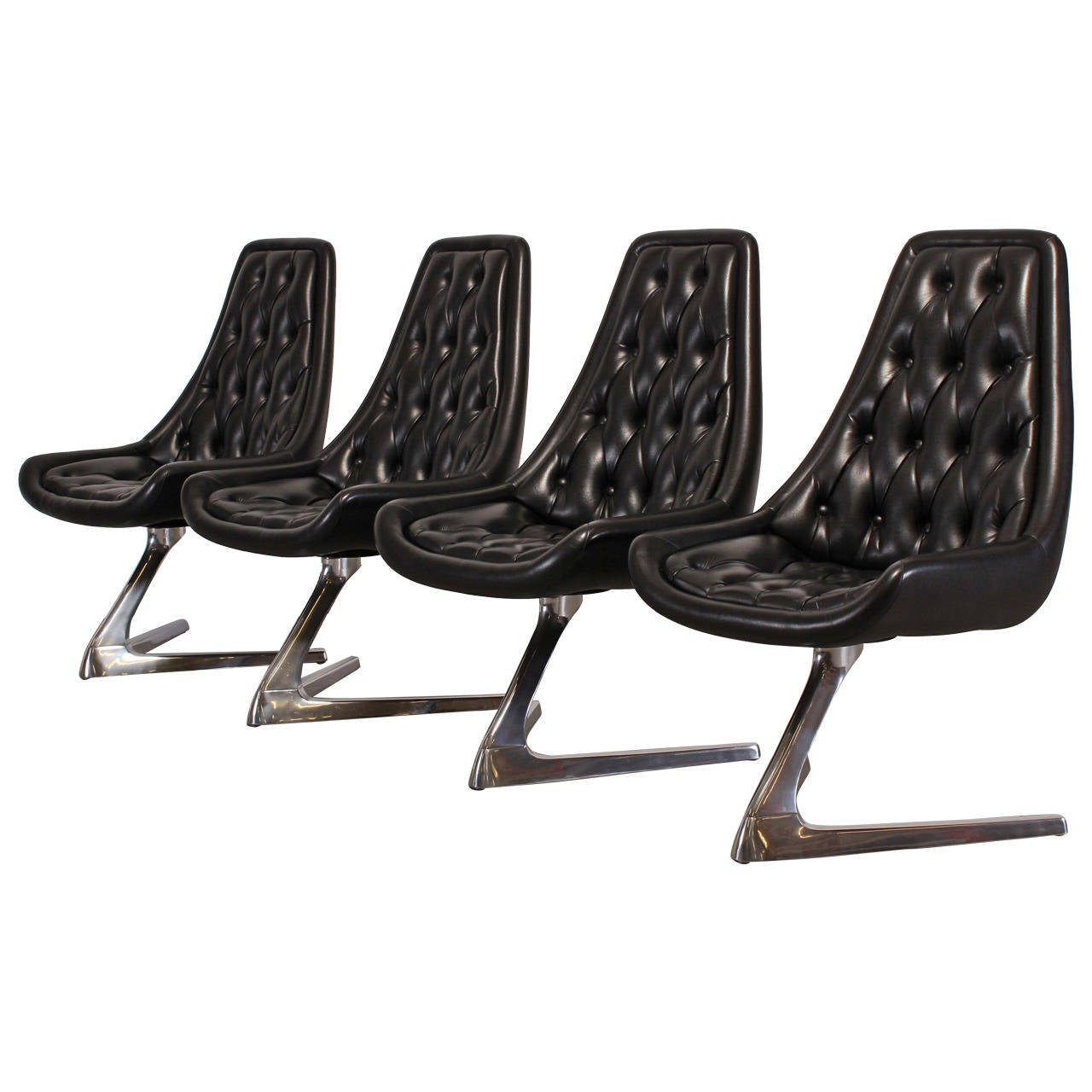 Set Of Four Quot Sculpta Quot Star Trek Chairs By Chromcraft At