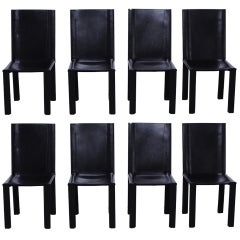 Set of 8 Matteo Grassi Italian Leather Chairs