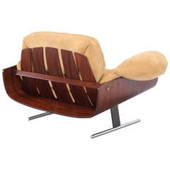 """Presidencial"" Lounge Chair by Jorge Zalszupin, for L' Atelier, Brazil, 1970"