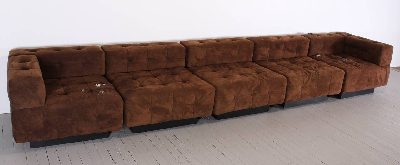 ten piece sectional sofa by harvey probber 1970 at 1stdibs. Black Bedroom Furniture Sets. Home Design Ideas