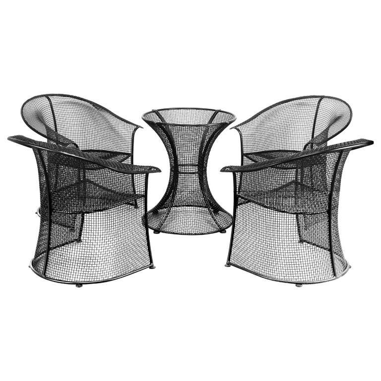 Wrought Iron Patio Table And Chairs By Woodard At 1stdibs