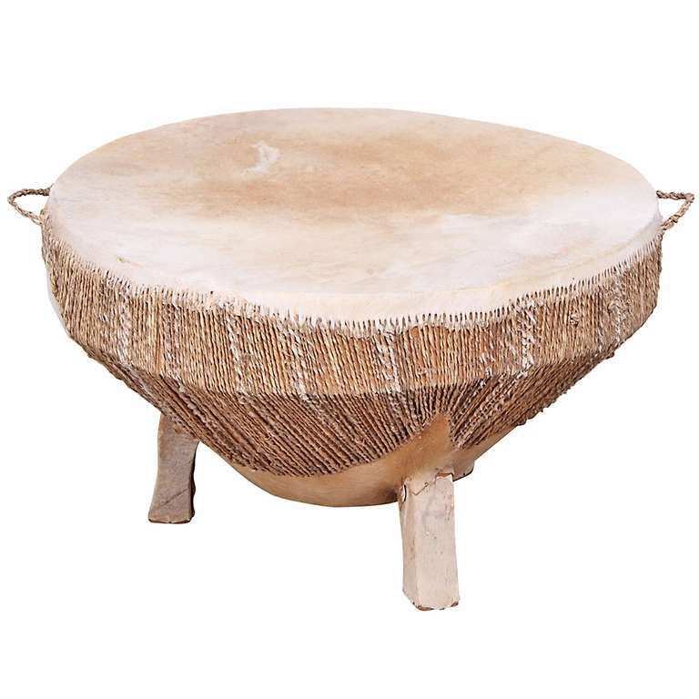 Black Coffee Table South Africa: African Drum Table At 1stdibs