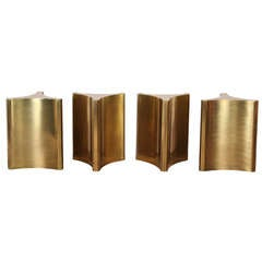 Four Brass Pedestal Table Bases by Mastercraft