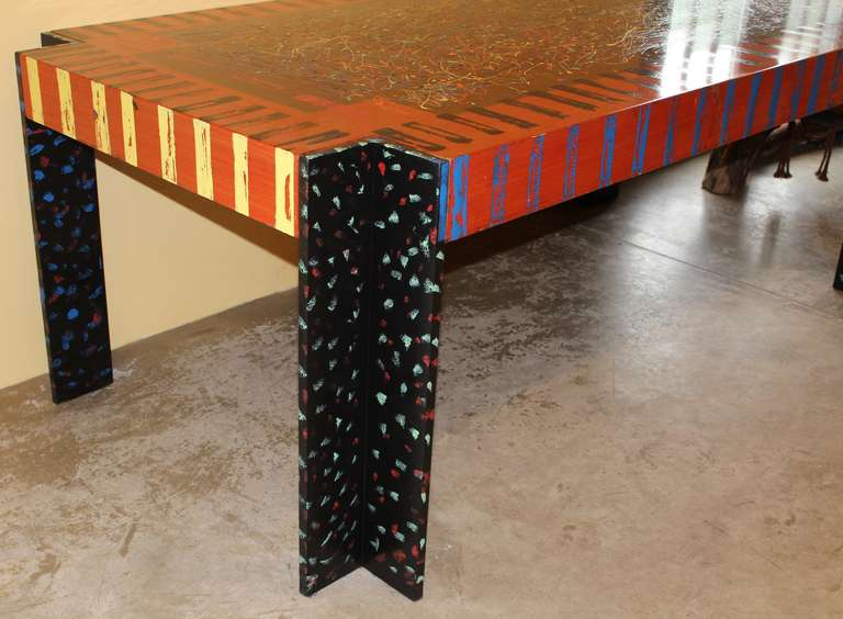 memphis style pop art desk by pace at 1stdibs. Black Bedroom Furniture Sets. Home Design Ideas