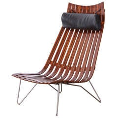 "Hans Brattrud Rosewood  ""Scandia"" Chair for Hove Mobler"