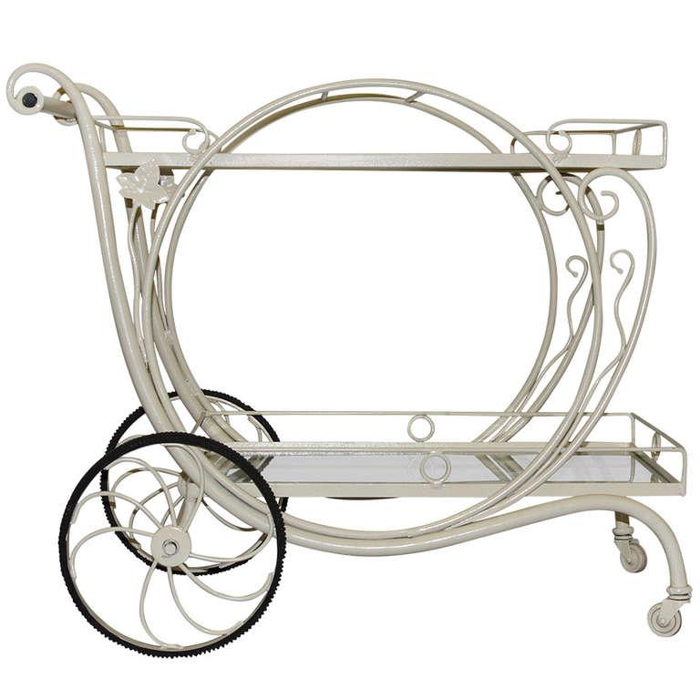 Wrought Iron Tea Cart By Salterini At 1stdibs