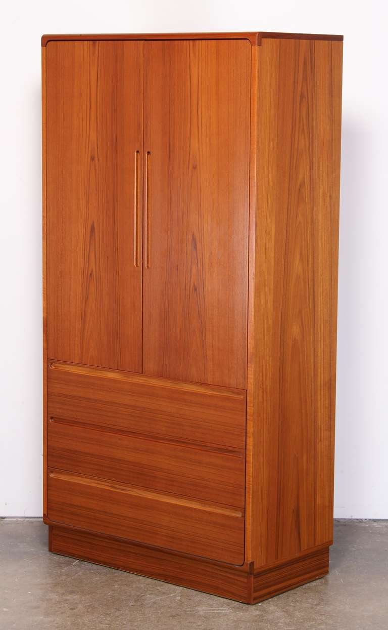 teak armoire by torring at 1stdibs. Black Bedroom Furniture Sets. Home Design Ideas