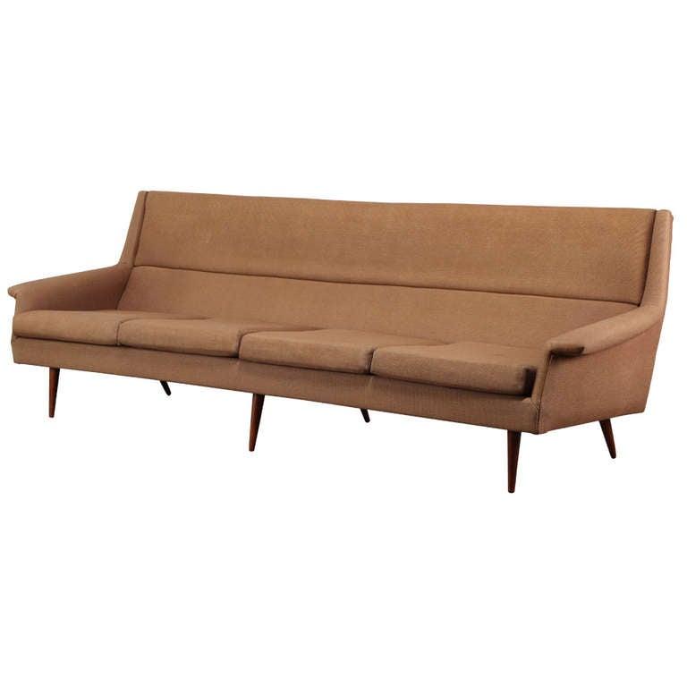 milo baughman sofa for thayer coggin at 1stdibs. Black Bedroom Furniture Sets. Home Design Ideas