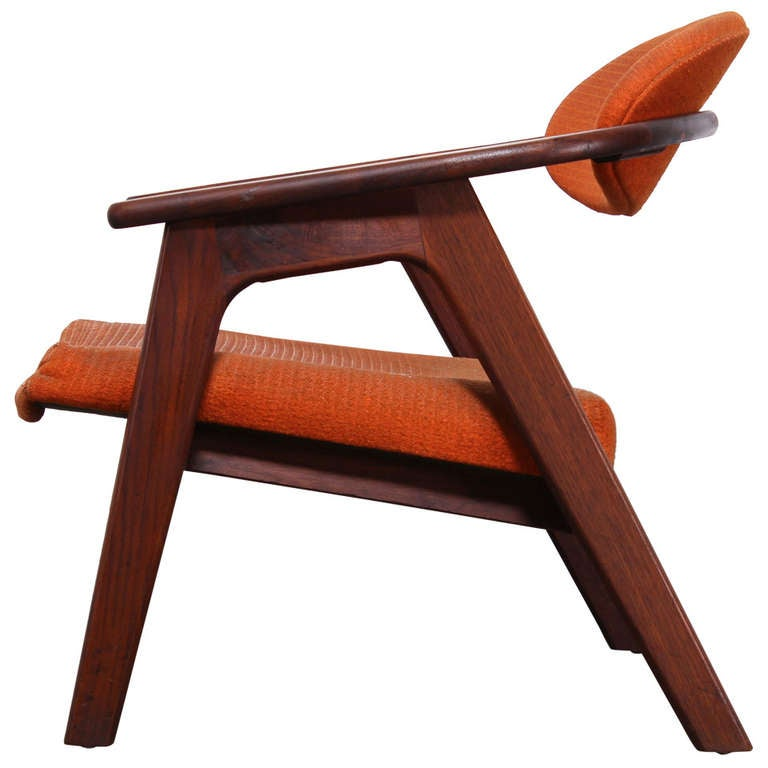 mid century modern adrian pearsall walnut captain 39 s chair 916 cc at