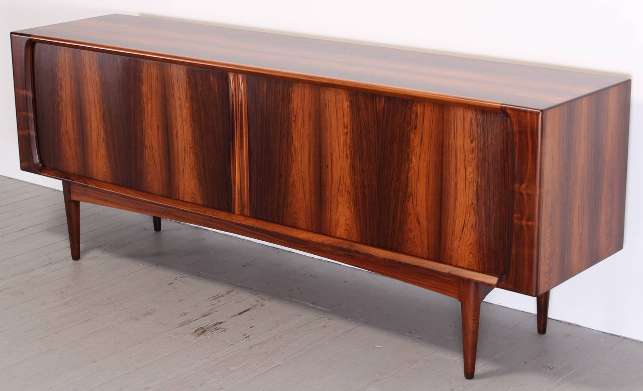 Danish Style Credenza : Danish bernhard pedersen and son rosewood credenza or sideboard
