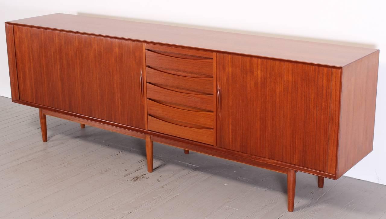 1960s Danish Credenza : Arne vodder danish teak credenza or sideboard for sibast model