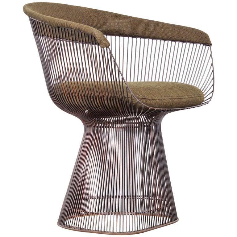 Warren Platner Bronze Dining Chair For Knoll At 1stdibs