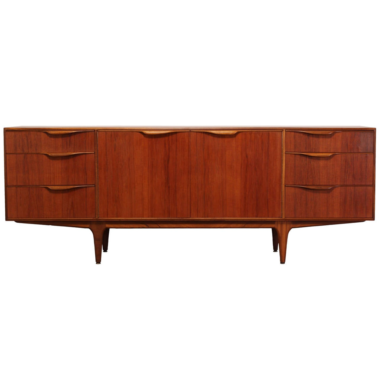danish style teak mid century modern credenza or sideboard. Black Bedroom Furniture Sets. Home Design Ideas