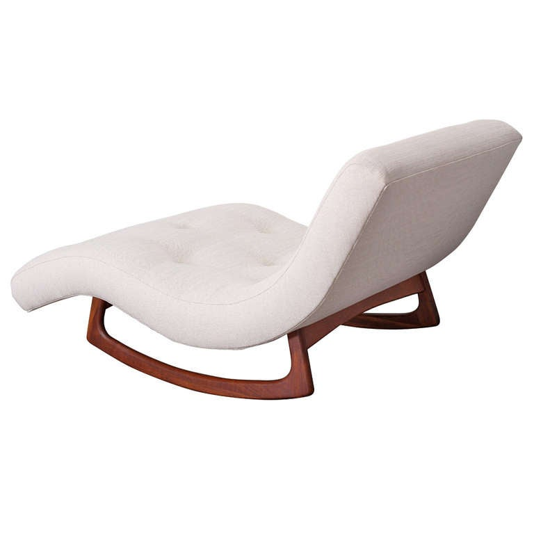 adrian pearsall mid century modern chaise longue at 1stdibs. Black Bedroom Furniture Sets. Home Design Ideas