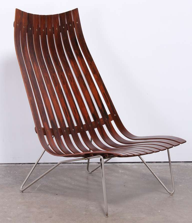 hans brattrud rosewood scandia chair for hove mobler at