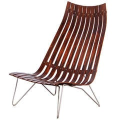 """Hans Brattrud Rosewood """"Scandia"""" Chair for Hove Mobler"""