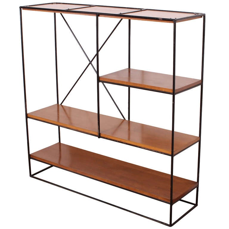 Paul mccobb planner group iron shelf unit at 1stdibs for Sideboard lindholm