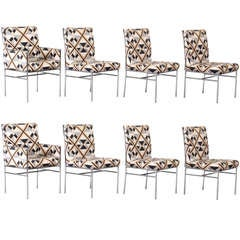 Set of Eight Mid-Century Modern Milo Baughman Dining Chairs, 1970