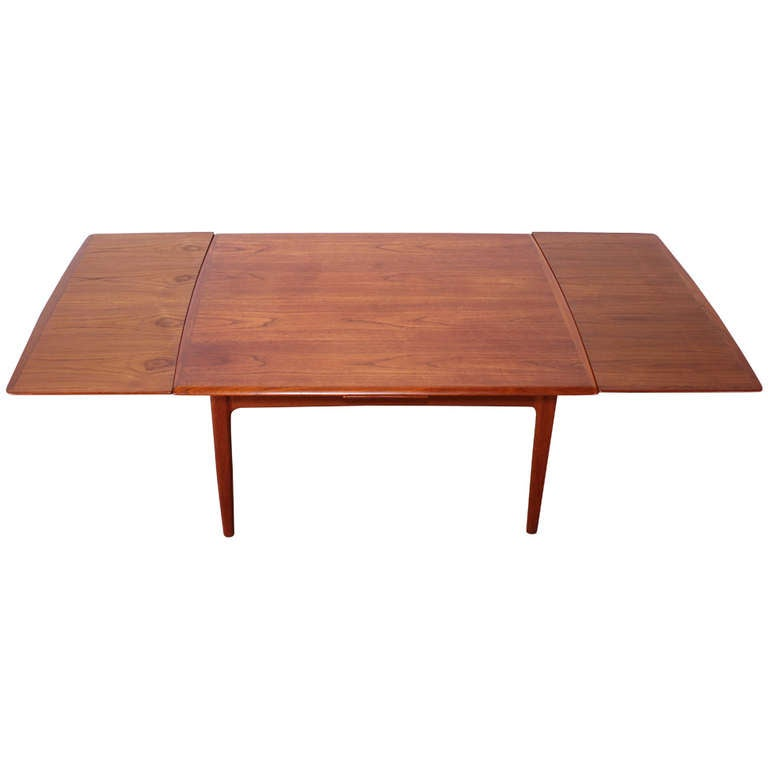 Danish teak mid century modern moller style dining table for New style dining table