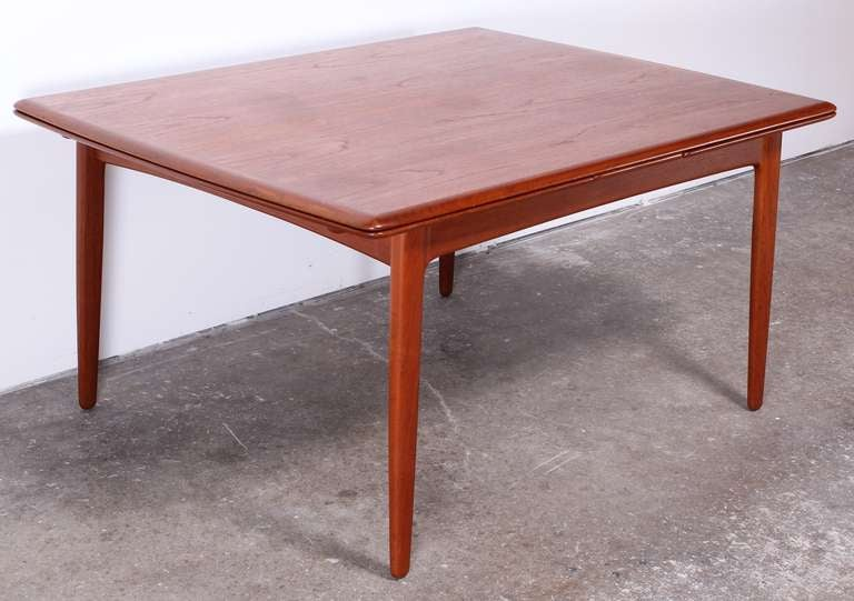 this danish teak mid century modern moller style dining table is no