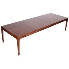 Large Far East Collection Dining Table for Baker in the Style of Michael Taylor