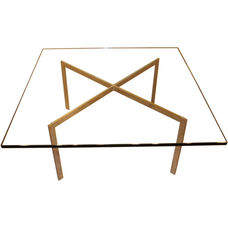 1973 barcelona table by ludwig mies van der rohe at 1stdibs. Black Bedroom Furniture Sets. Home Design Ideas