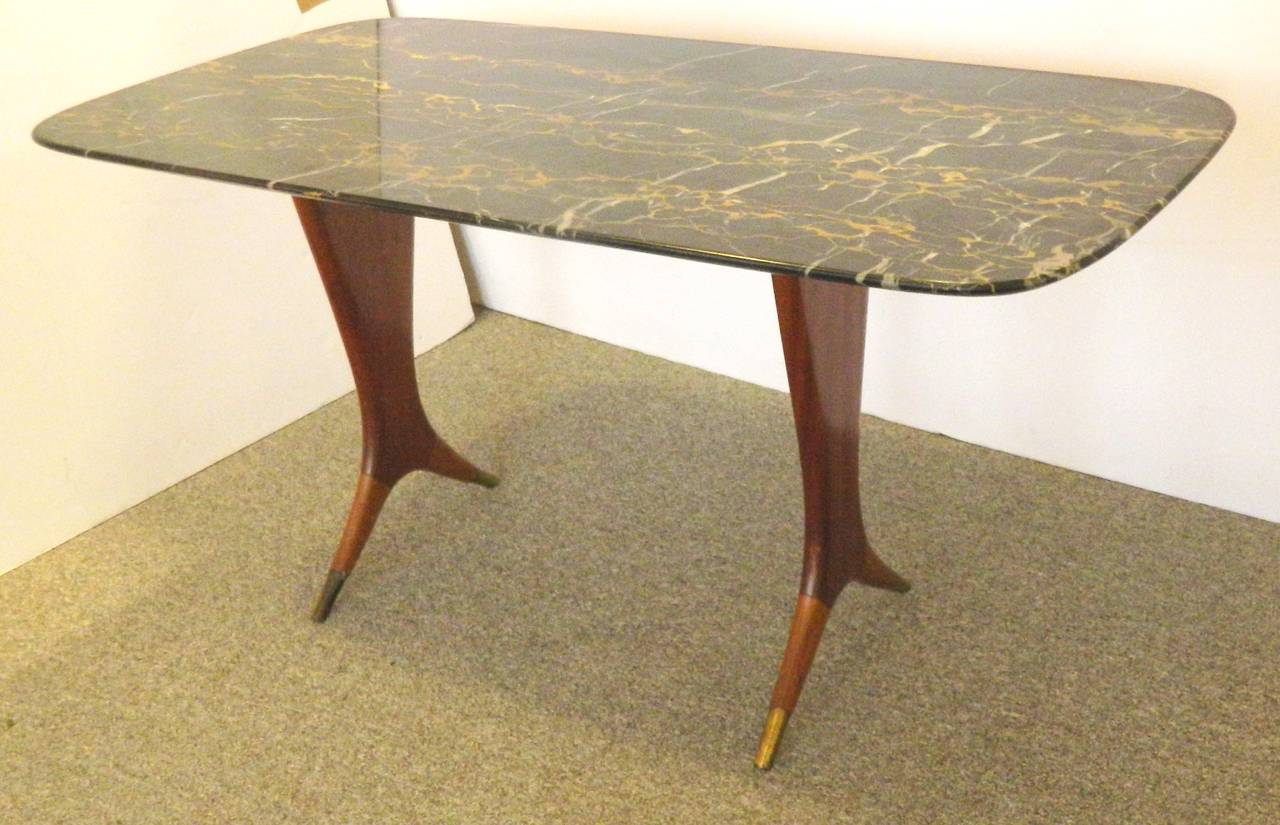 Italian Walnut Black Onyx Coffee Table For Sale At 1stdibs